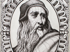 Italianos identificam supostos cabelos de Leonardo Da Vinci