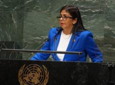 Na ONU, Delcy Rodríguez denuncia agressões dos EUA e Colômbia contra Venezuela
