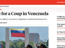 Artigo da Foreign Policy defende abertamente golpe militar na Venezuela
