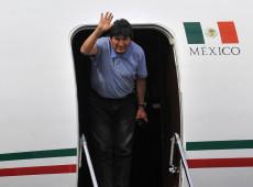 Ex-presidente boliviano Evo Morales chega ao México