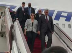 Presidente de Cuba chega à China para visita oficial e reunião de cúpula com Xi Jinping