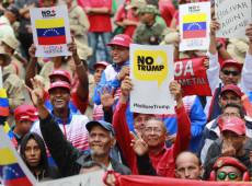 Venezuelanos vão às ruas em apoio a documento contra sanções dos EUA à Venezuela