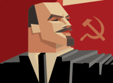 Lênin, o líder maior do Outubro Vermelho