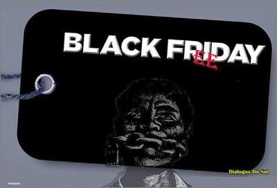 E milhões enlouquecem com a Sexta-feira Negra. Estados Unidos é a Meca do consumismo. Ilustração: tt Catalão*